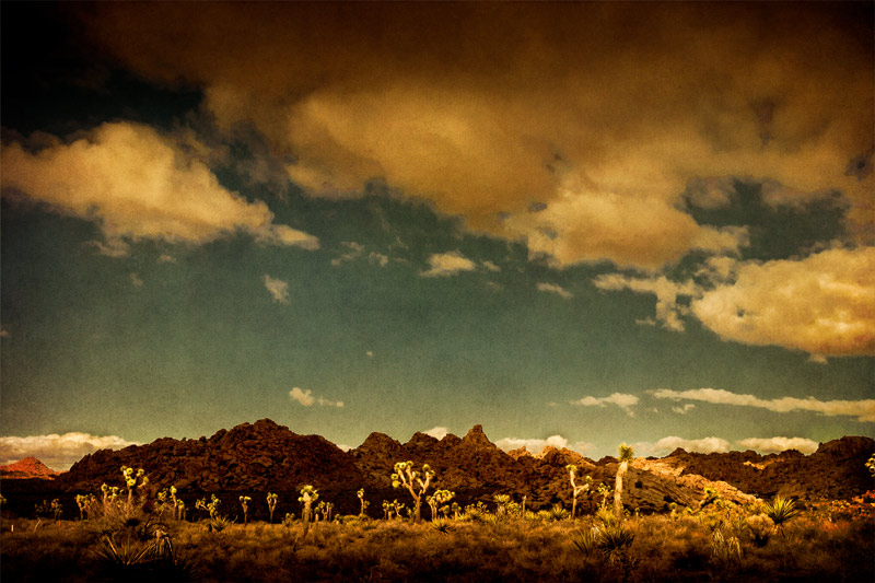 joshua tree keys ranch clouds landscape fine art