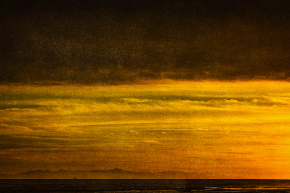 channel islands with offshore oil rig SoCal Seascapes
