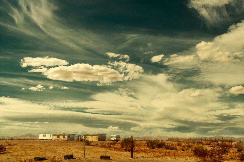 joshua tree mojave clouds fine art landscape