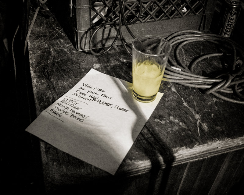 Set list - The Blasters onstage at The Redwood Bar