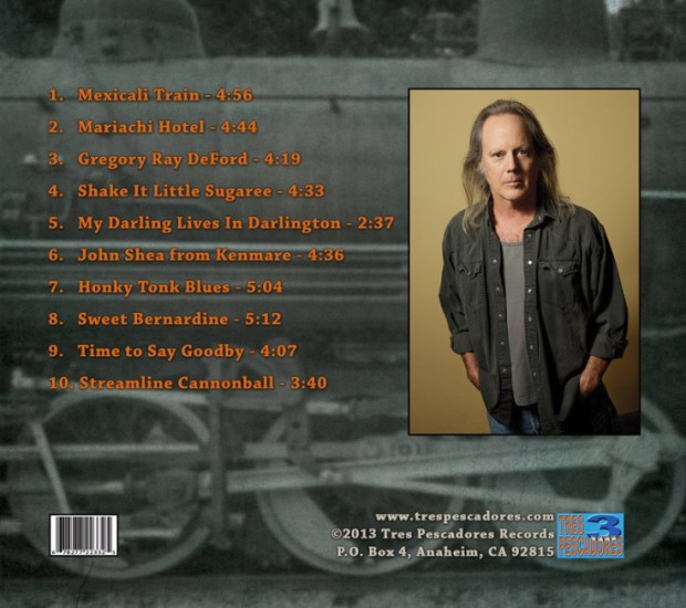 Rick Shea Sweet Bernardine CD back cover