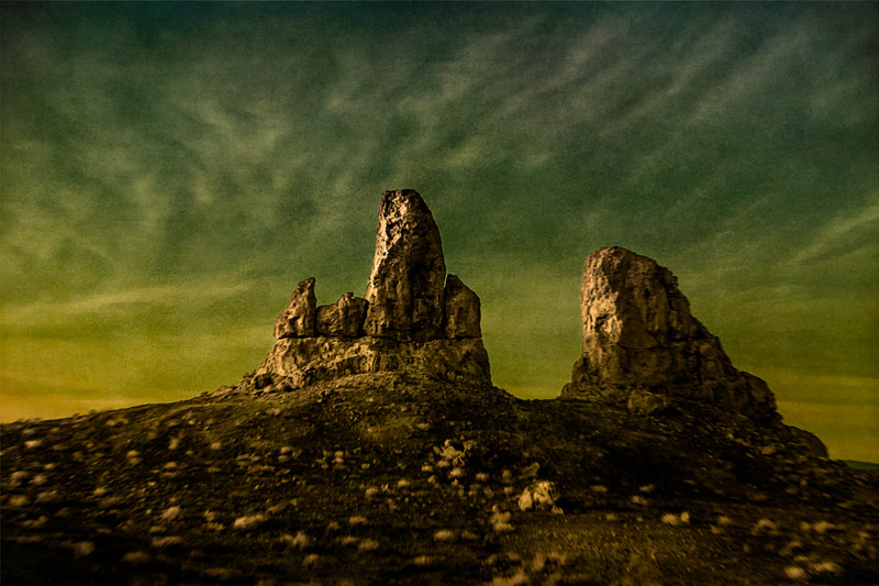 trona pinnacles rocks dusk fine art landscape